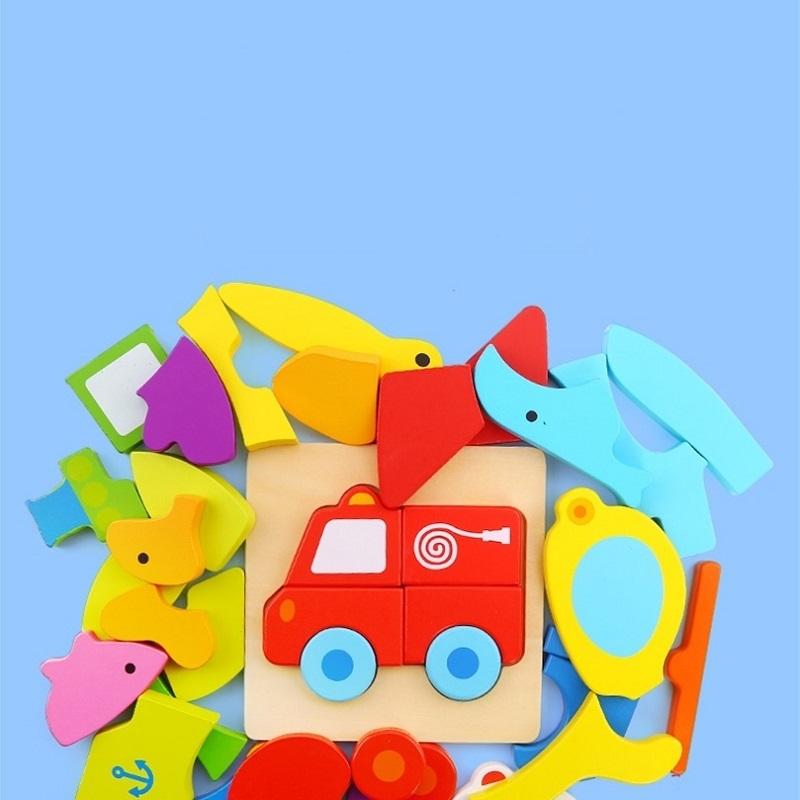 木制拼图儿童益智力木质宝宝平图1-2-3岁男女孩幼儿蒙氏早教玩具