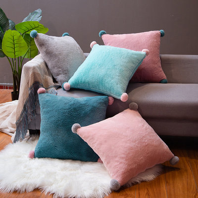 Pillow cushion sofa living room square pillow office cushion waist back cushion Nordic bed headrest removable and washable