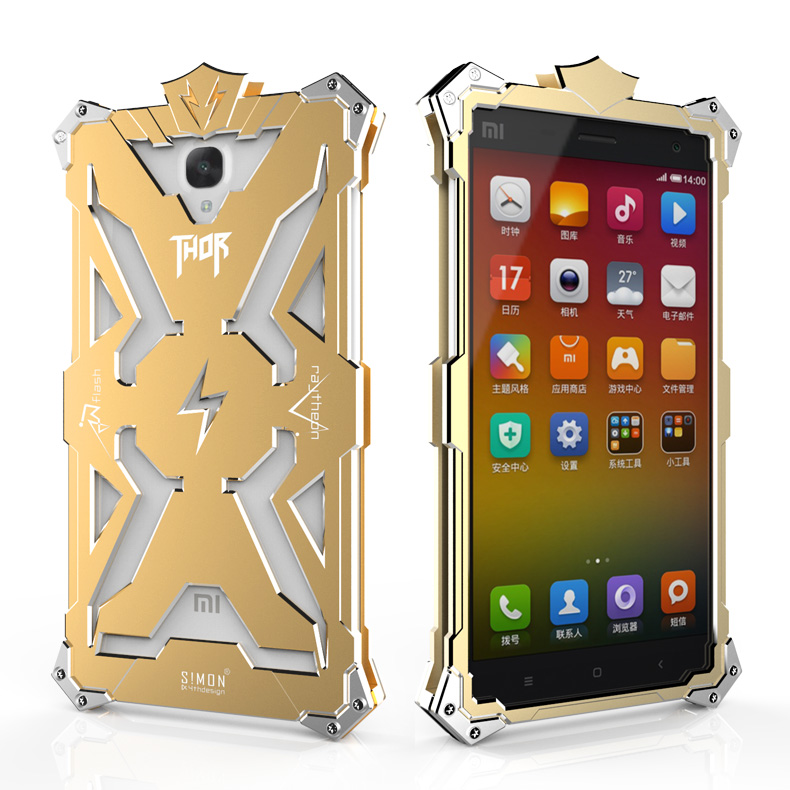 SIMON THOR Aviation Aluminum Alloy Shockproof Armor Metal Case Cover for Xiaomi Redmi Note 4|3|2|1