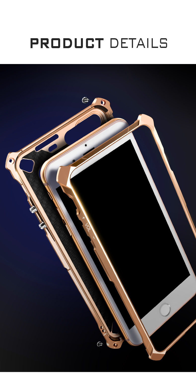 KANENG Powerful Aluminum Shell Shockproof Aerospace Metal Case Cover for Apple iPhone 7 Plus & iPhone 7