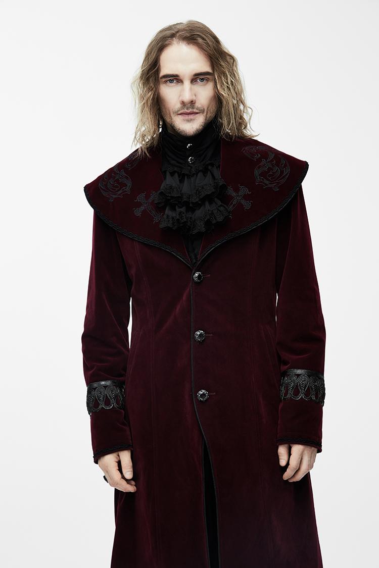 Mùa thu và mùa đông tối ma quỷ áo đẹp trai tòa án tiệc cao cấp quý tộc swallowtail dài ăn mặc len áo gió nam