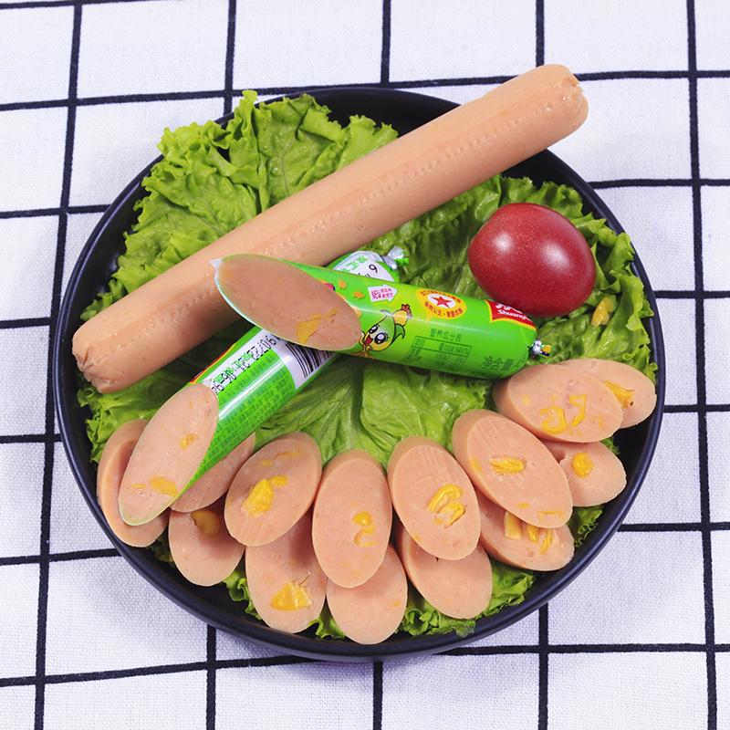 双汇润口香甜王30g*18支火腿肠玉米肠玉米火腿肠鸡肉肠泡面肠