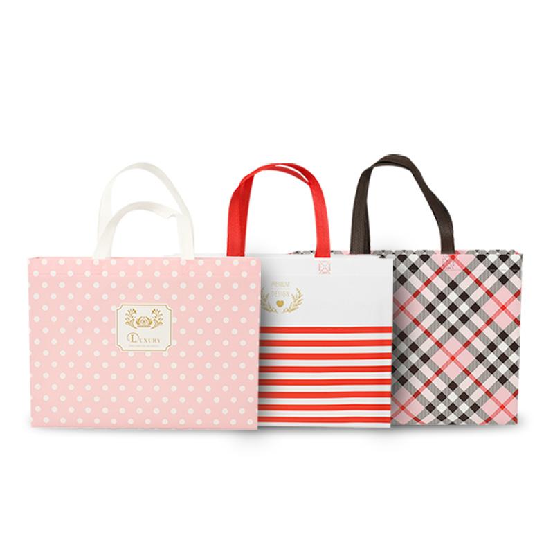 无纺布手提袋定制印字logo礼品购物环保帆布袋定制外卖袋印刷覆膜