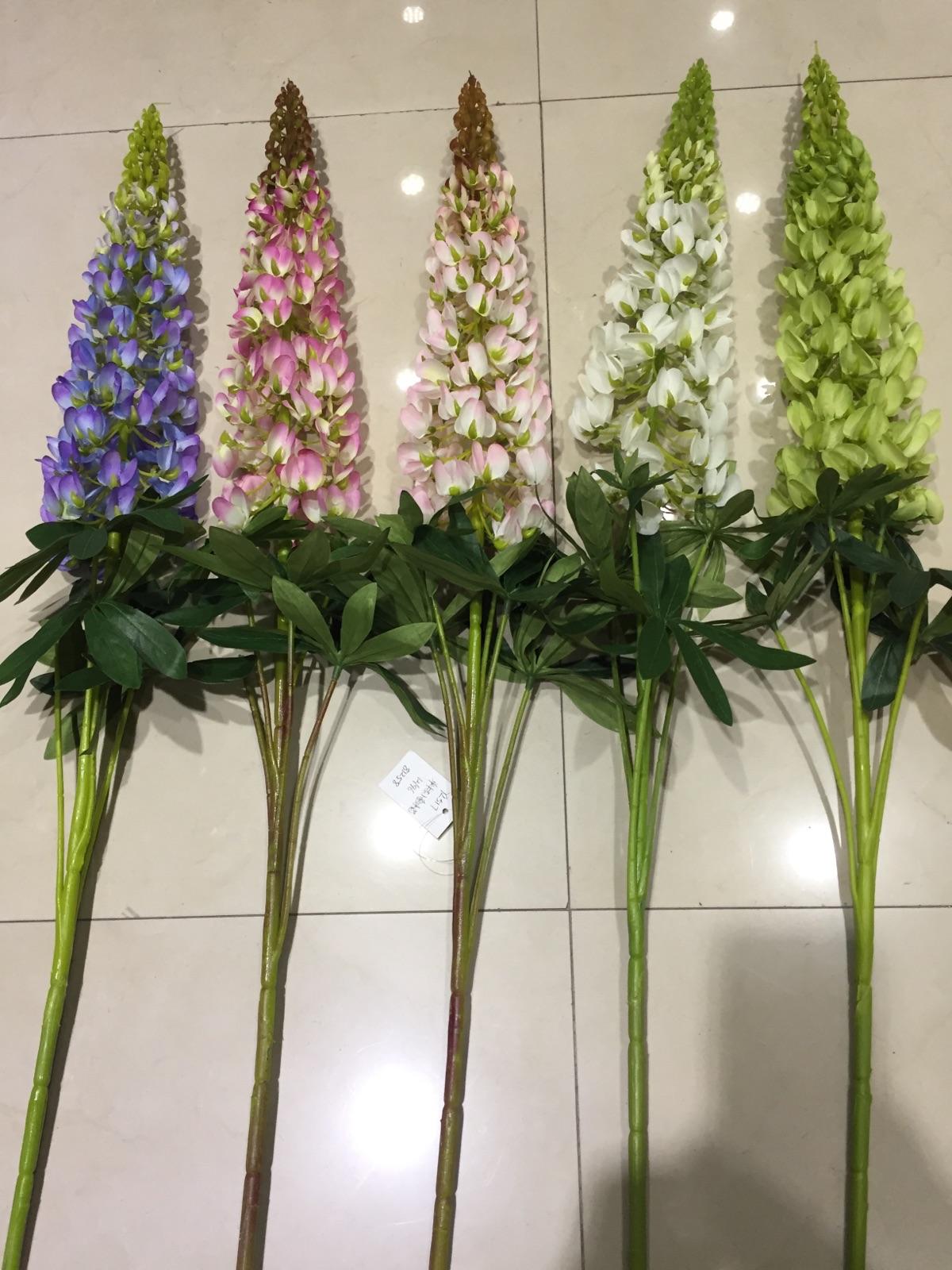 New single long pole landing big branch simulation flower Fake flower Lu ice flower Living room dining room Hotel lobby flower arrangement silk flower