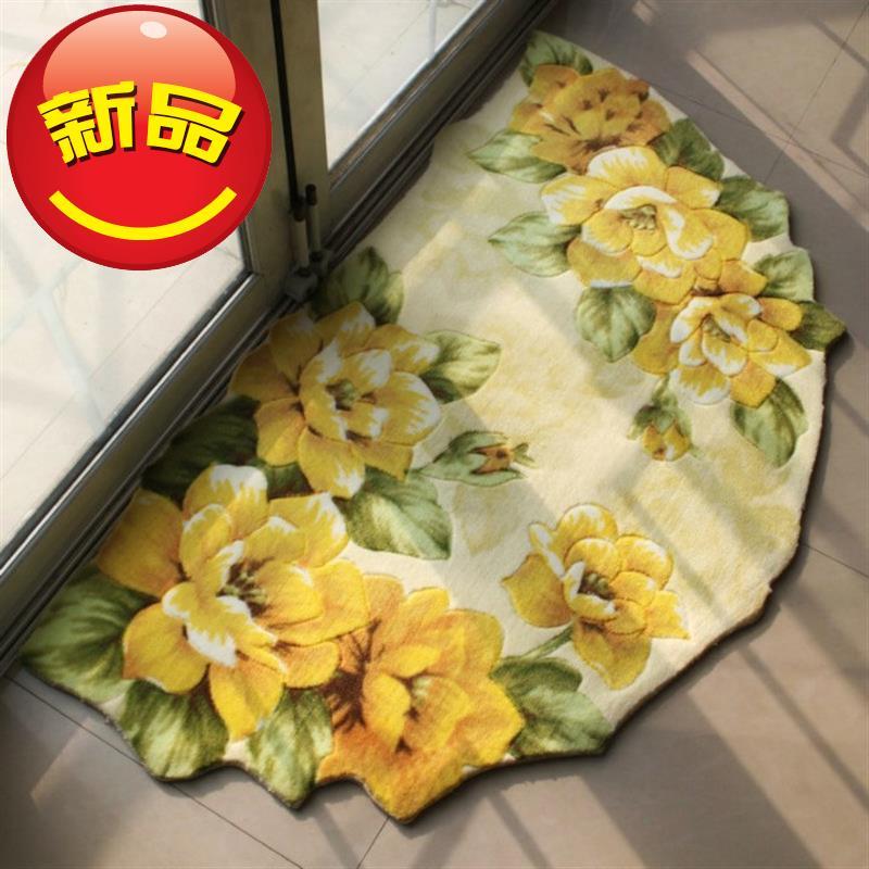 特价包邮田园风玄关地垫客厅卧室地毯 进门垫r 半圆地毯门垫