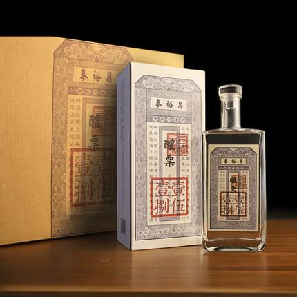 545ml*6瓶,非遺工藝 泰裕昌 醴票 52度 純糧濃香型白酒 劵后198元包郵 平常298元