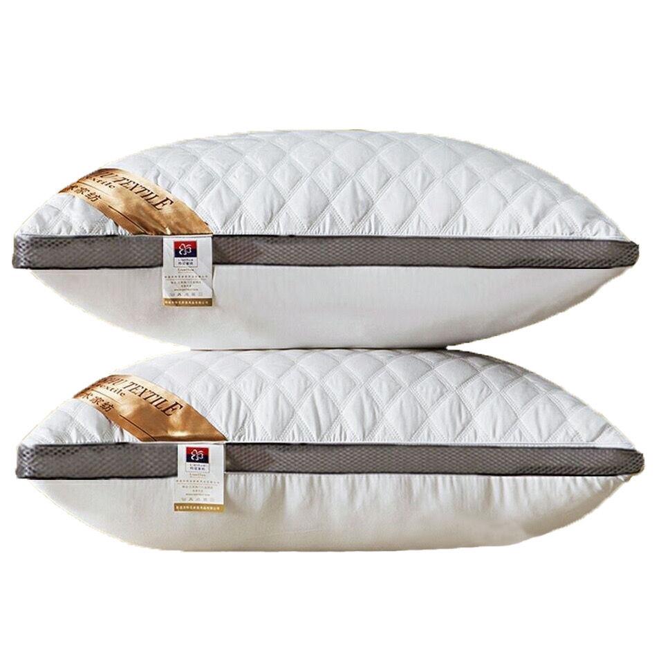 枕头一对装送枕套酒店枕芯护颈家用成人枕头芯可水洗