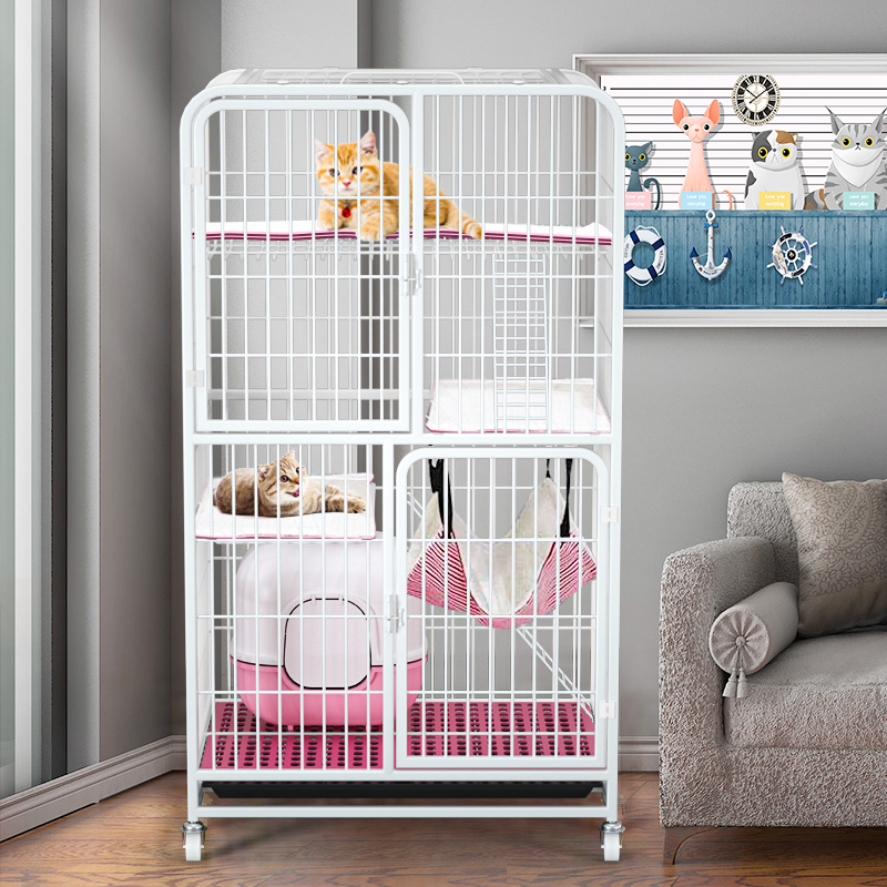 Cat Cage Cat Villa Home Indoor Extra Large Free Space Two And Three Floors Large Cat House Clearance Small Cat Litter