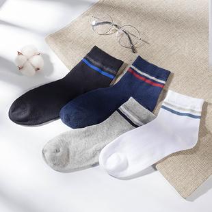男士中筒长棉袜秋季透气运动袜