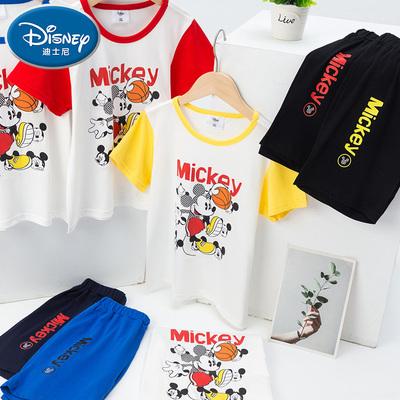 迪士尼男童夏装套装2021新款儿童洋气短袖男孩夏季帅气韩版两件套