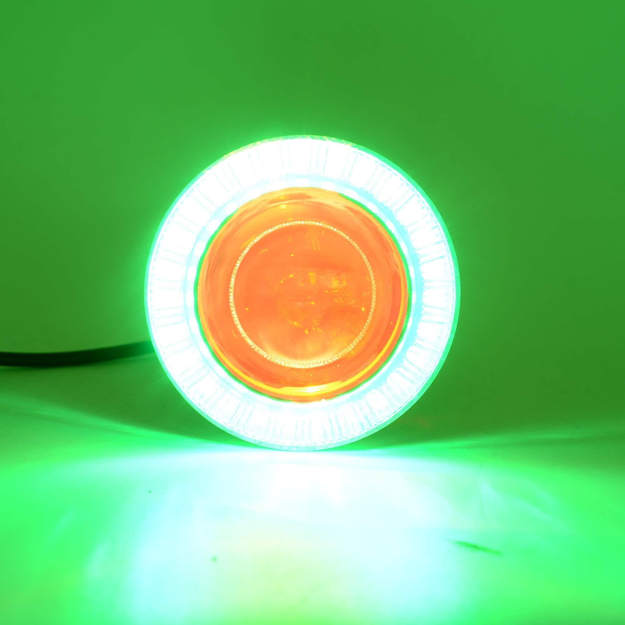 Ghost Fire Angel Eye Devil Eye Motorcycle đèn pha led phụ kiện sửa đổi siêu sáng đèn điện xe chói lóa đèn nhấp nháy - Đèn xe máy