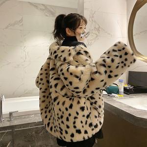 毛绒女冬季短款2020新款韩版宽松羊羔绒仿皮草豹纹毛毛女