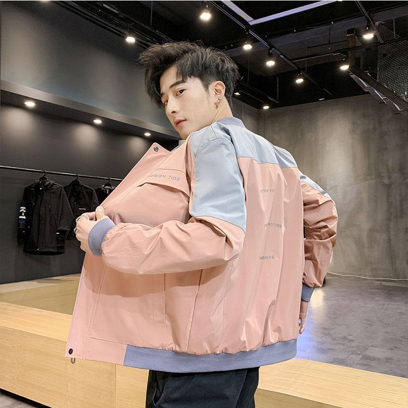 勋伯格男士工装外套春秋季2020新款韩版潮流机能秋装上衣潮牌
