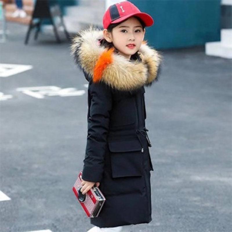 女童冬季棉衣2019新款韩版儿童中长款棉服童装中大童女孩棉袄加厚