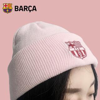 Товары для фанатов,  Барселона ло что клуб товар шу барса официальный новый осень и зима розовые волосы линия крышка месси футбол вентилятор вязаная шапка, цена 1031 руб