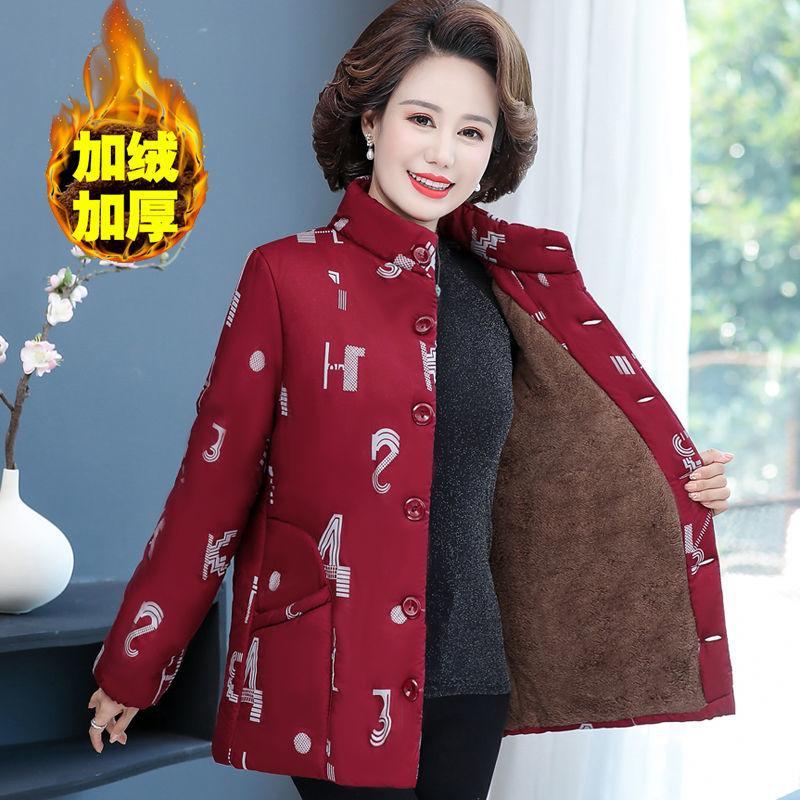 中老年女装民族风棉袄妈妈装