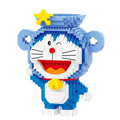 哆啦A梦星座小颗粒拼装男孩女孩玩具成年生日创意礼物微颗粒积木