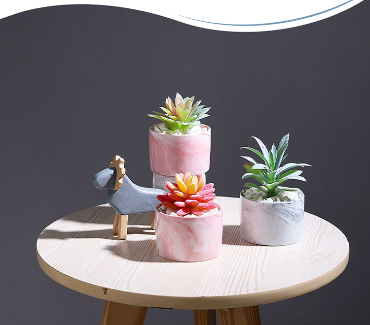 The simulation plant furnishing articles suit green plant ins small potted plant decoration, flower art ceramic fake flowers sitting room other fake grass