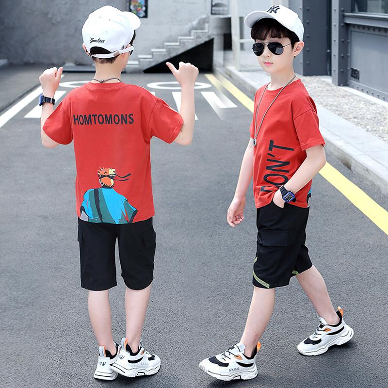 童装男童夏装2020新款儿童短袖帅气洋气夏季韩版中大童时髦套装潮