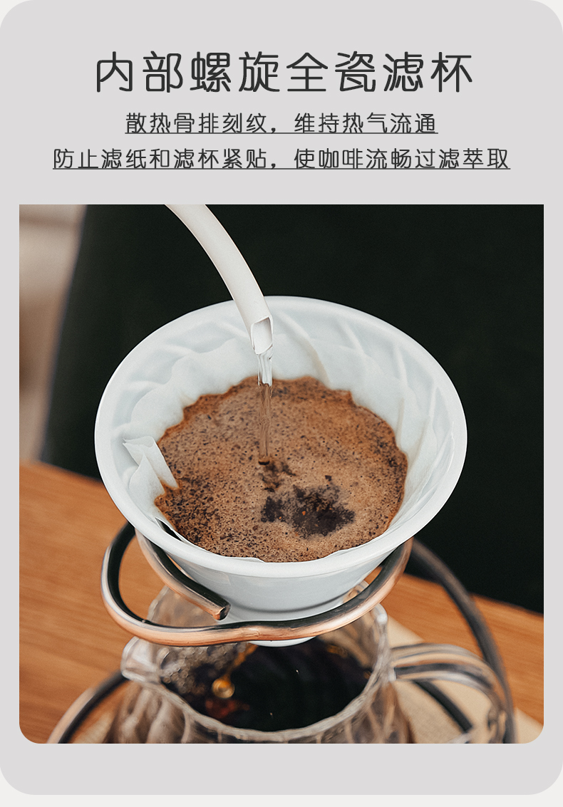 Bincoo coffee pot set ceramic origami filter to use hand filter coffee pot appliance share pot of electronic scale