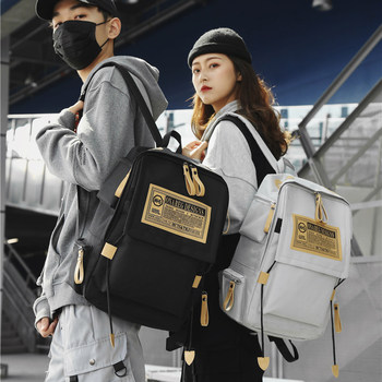 Backpack male Tide brand casual and simple bag female Korean high school students ins over Japanese wild fire backpack