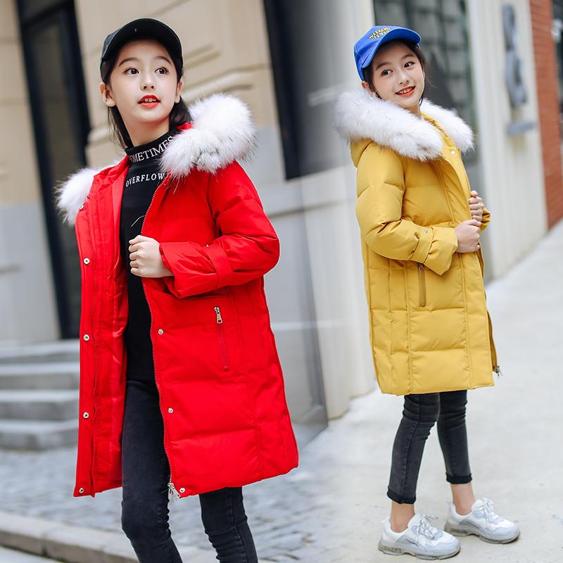 童女女童棉衣冬装中长款洋气外穿10大女孩装11青少年13岁棉服外套