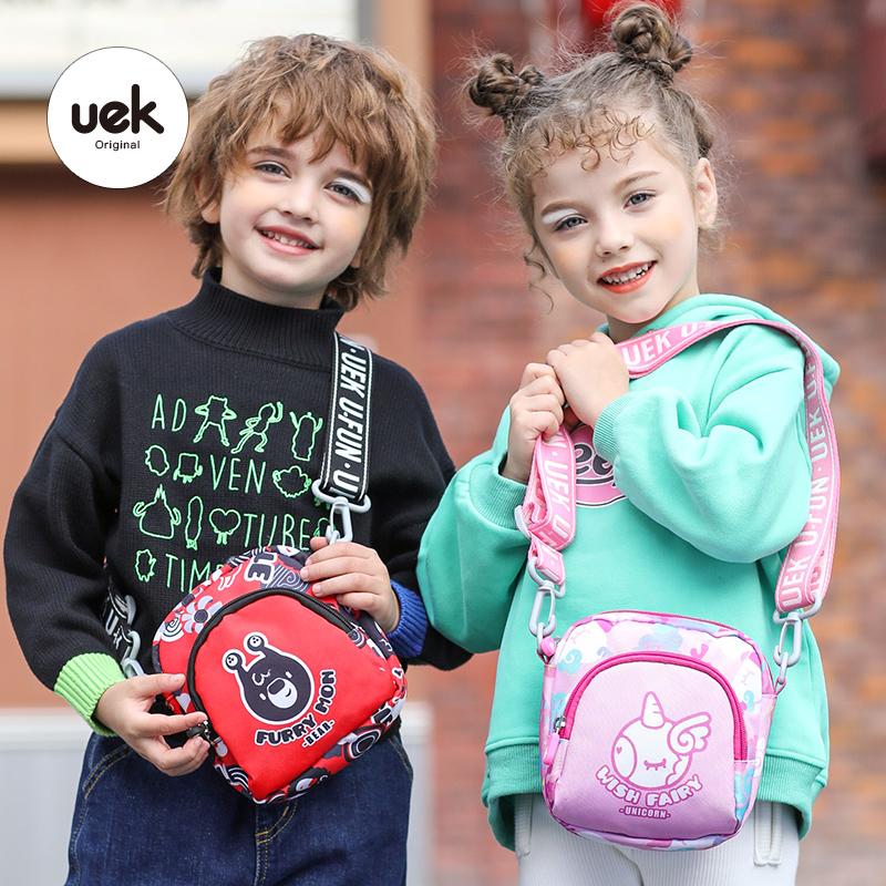 uek儿童斜挎包女孩包包可爱男童卡通挎包宝宝拜年包公主时尚小包
