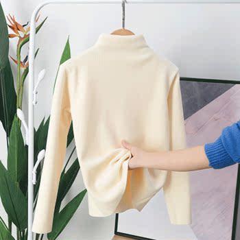 新款阳离子2.0打底衫加绒版加厚