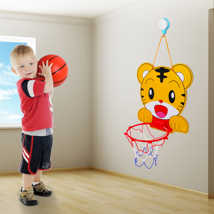 Children's Wall children's basketball stand indoor boy pitching training no hole hanging child shooting
