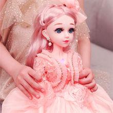 60厘米眨眼布偶芭比娃娃套装女孩换装公主会说话的儿童洋娃娃玩具