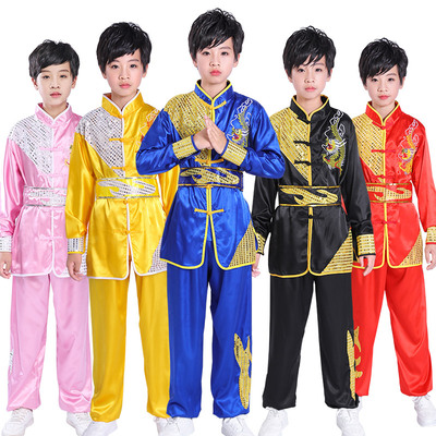 Children's martial arts performance clothing primary and secondary school students' Taiji gymnastics training clothing Chinese wind dragon clothing martial arts competition performance clothing