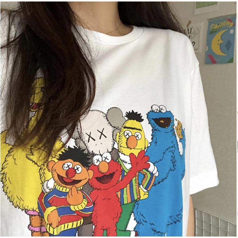 【第二件0元】芝麻街夏季卡通短袖