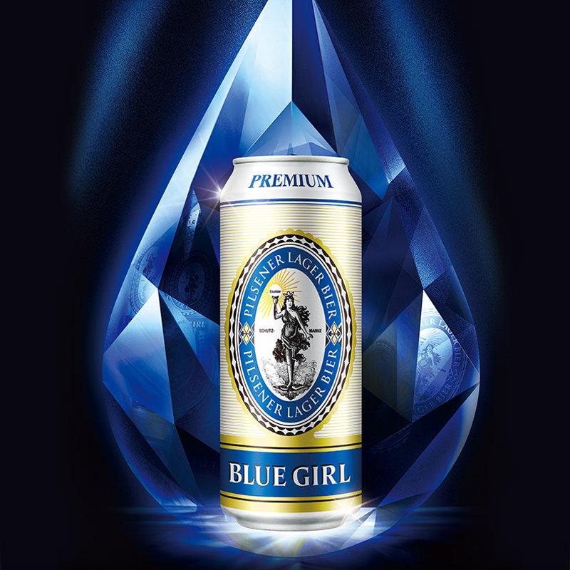 蓝妹啤酒德国酿造500ml*24听装