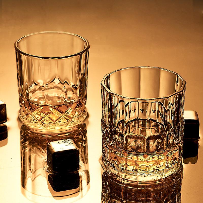 威士忌酒杯ins风北欧家用水晶玻璃洋酒杯创意啤酒杯网红酒吧套装