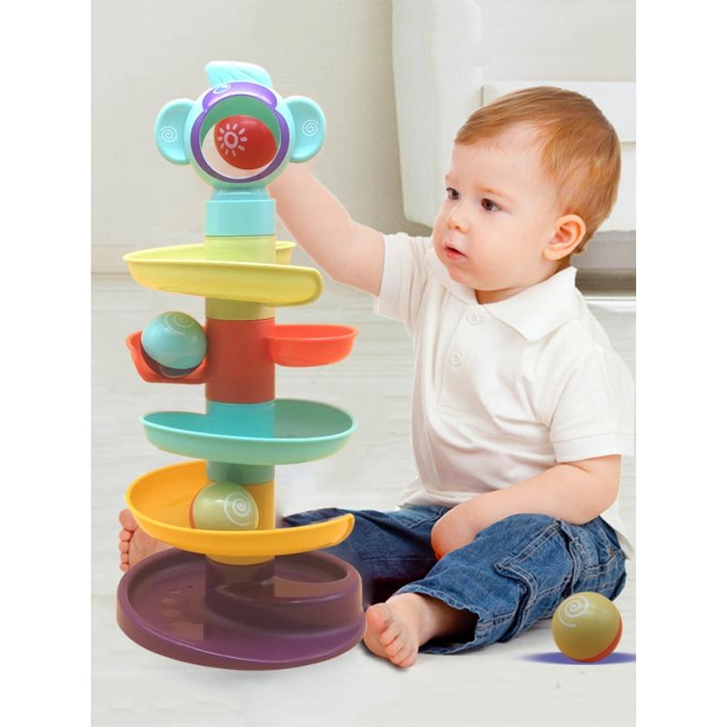 Ребенок головоломка геморрой трек подвижной мяч скольжение мяч башня ребенок ребенок обучения в раннем возрасте поворот поворот музыка 1-2 годовалый половина игрушка