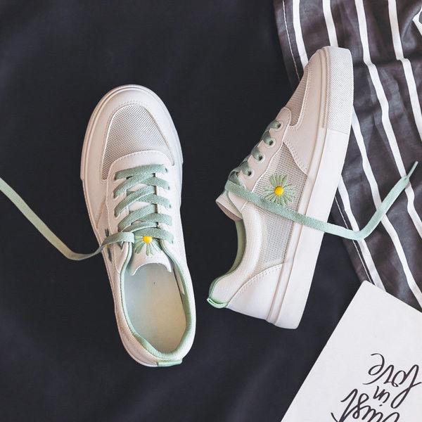 夏季薄款透气网面小白鞋女鞋春夏