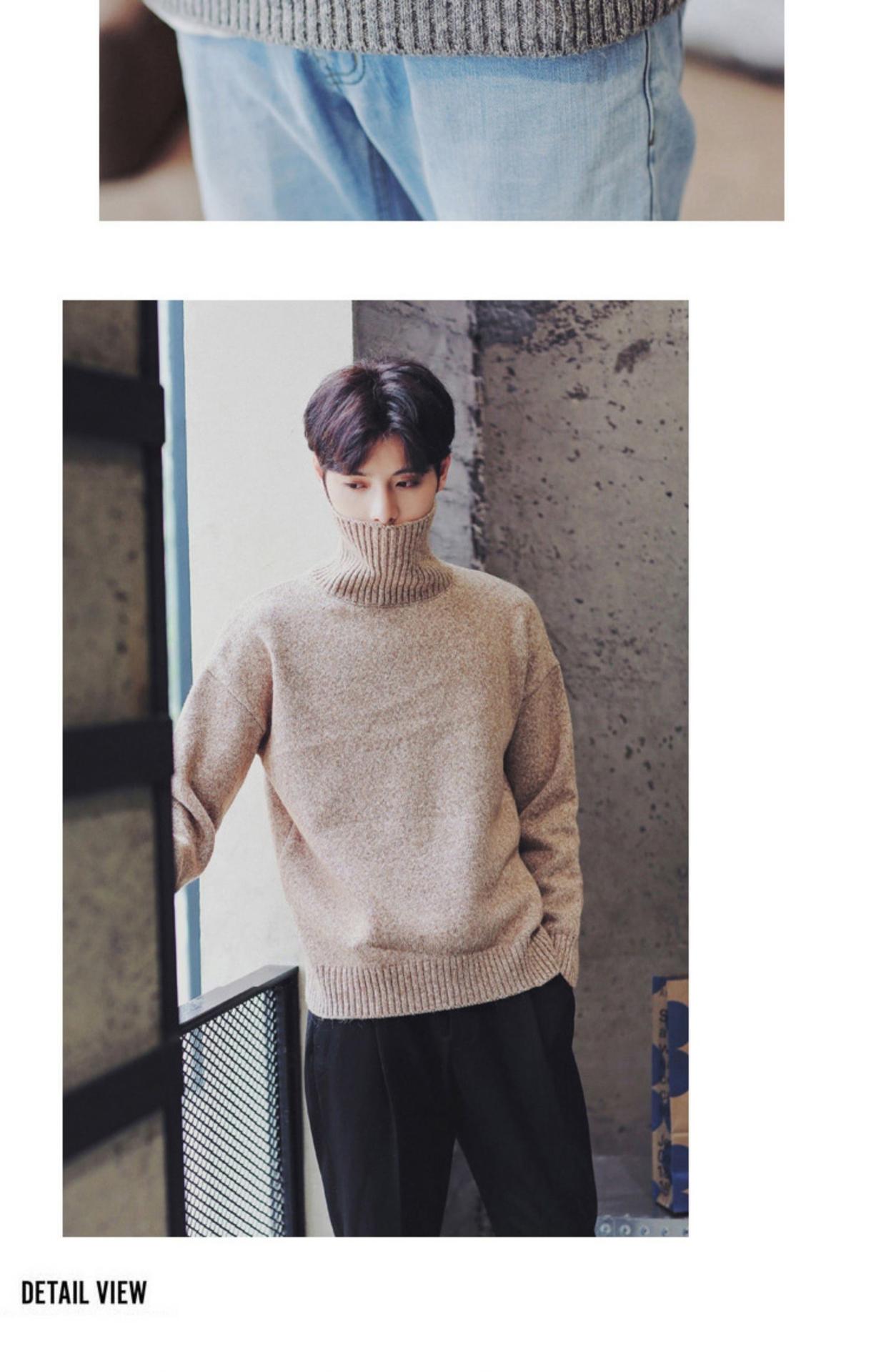 Áo len nam mùa đông dành cho nam Xu hướng Hàn Quốc Cộng với áo len cổ lọ dành cho tuổi teen - Cardigan