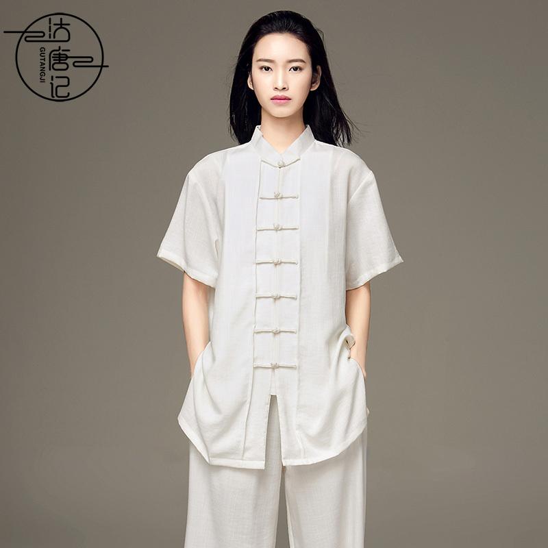 Tai chi clothing kung fu uniforms Lightweight Chinese style short sleeve Taiji costume women summer male Taijiquan training suit professional performance costume competition