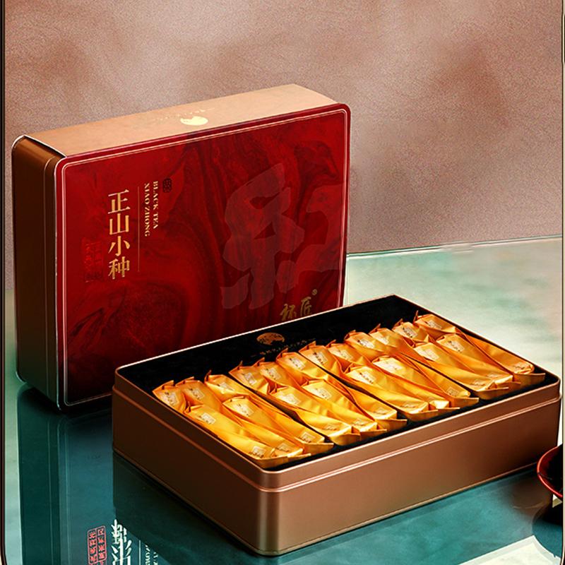 2021新茶 正山小种红茶高档礼盒装 特级武夷山浓香型茶叶泡袋装