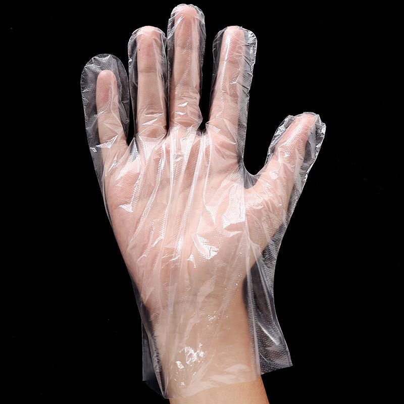加厚一次性手套食品级专用餐饮塑料手套一次性食用pe薄膜透明手套