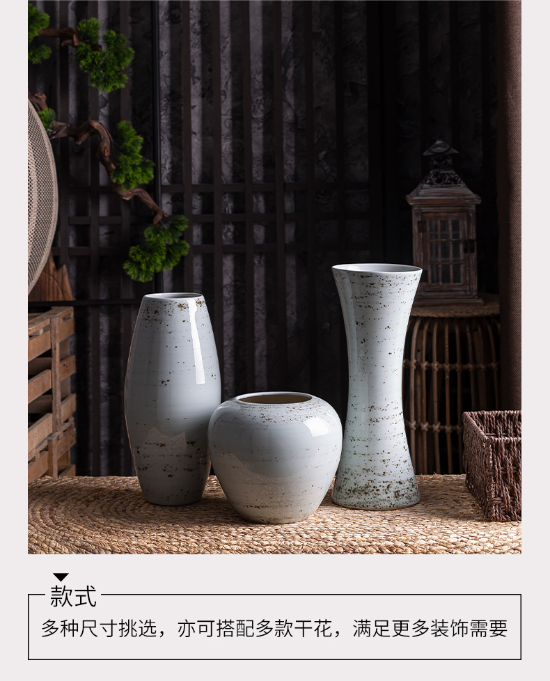 I and contracted land sitting room creative flower arranging furnishing articles home decoration ceramic dry flower vase floral arrangements