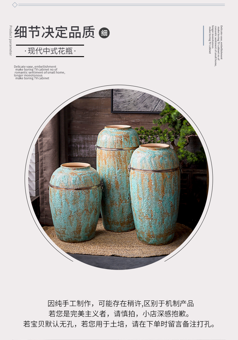 Coarse some ceramic pot fleshy field all over the sky star, dried flowers of large vases, restore ancient ways small and pure and fresh flower arrangement sitting room furnishing articles
