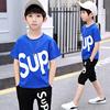 夏季男童纯棉短袖两件套110-160cm
