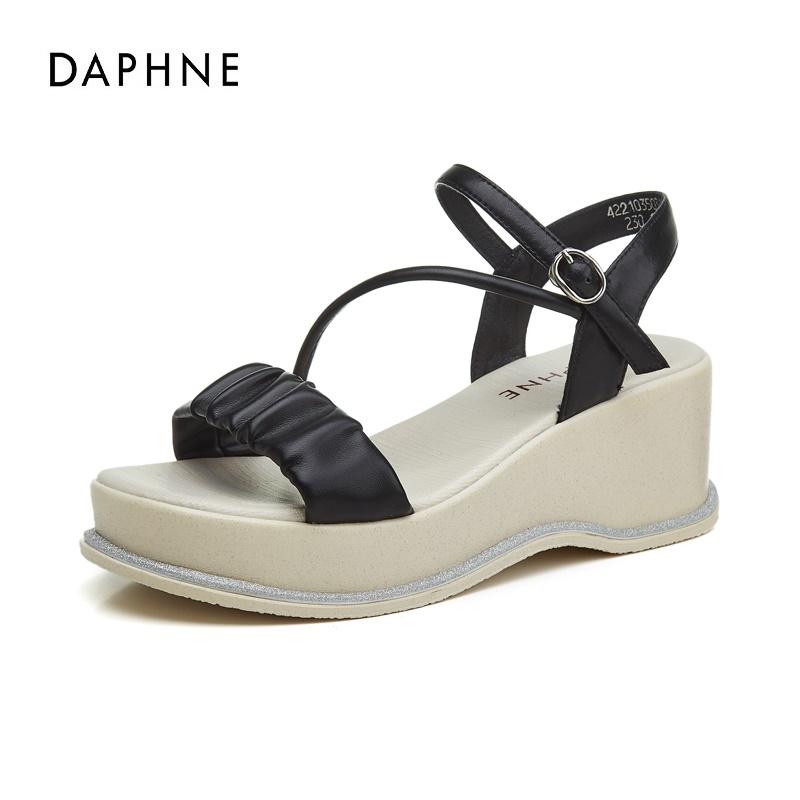 达芙妮女鞋2021年新款夏季女士凉鞋休闲