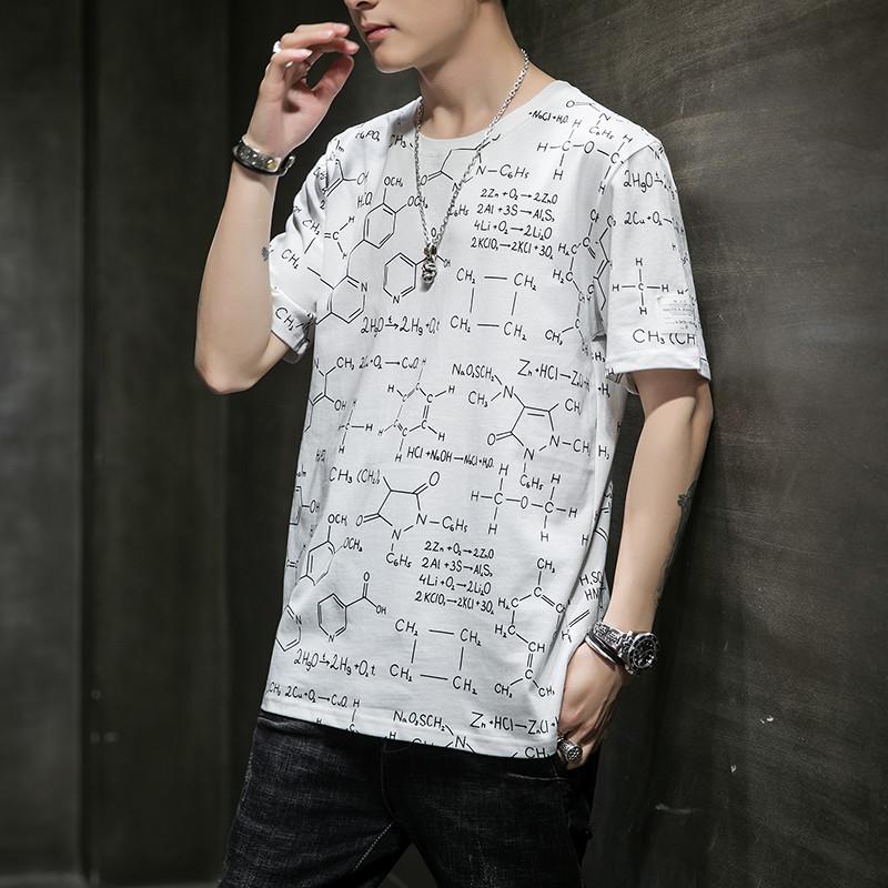 男士纯棉印花短袖t恤夏季新款2020韩版潮流半袖体恤男装潮牌上衣
