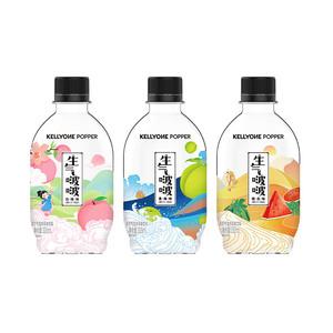 哇哈哈旗下品牌!生气啵啵无糖气泡水12瓶