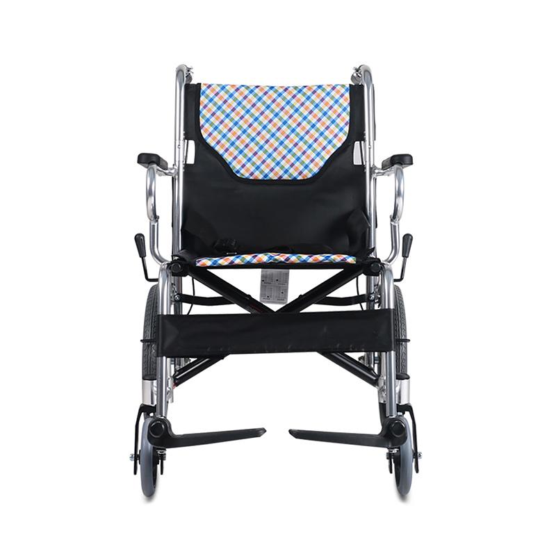 鱼跃老人h032c折叠轮椅老年手推车轻便超轻免充气小轮便携式旅行