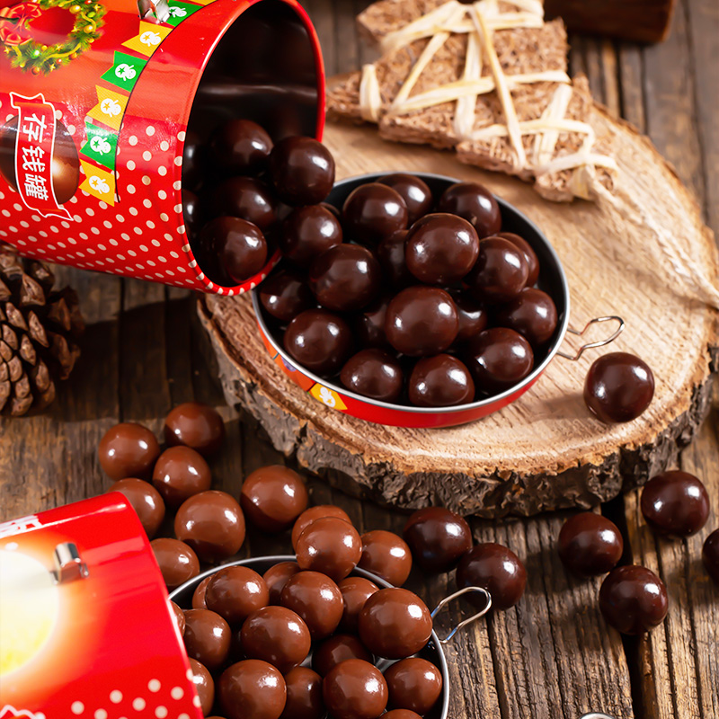 【拍三件】麦丽素夹心巧克力存钱罐