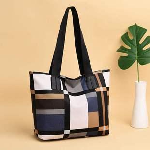 Мешки женщина 2019 зимний осенний новинка большой потенциал простой сумку большой пакет пакет дикий мисс плед портативный сумка