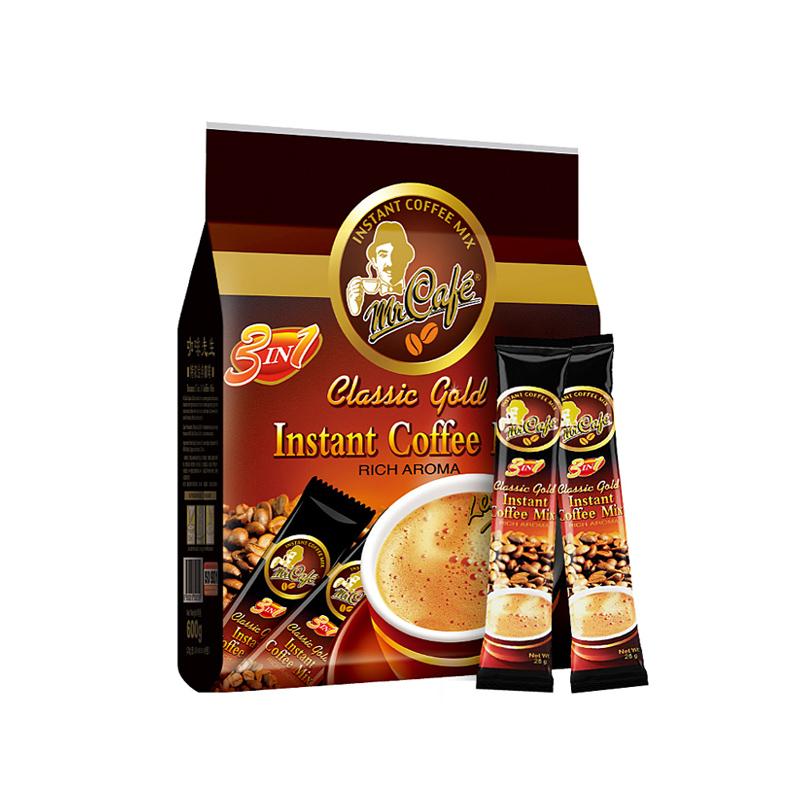 马来西亚咖啡速溶特浓卡布奇诺三合一进口白咖啡先生条装提神学生